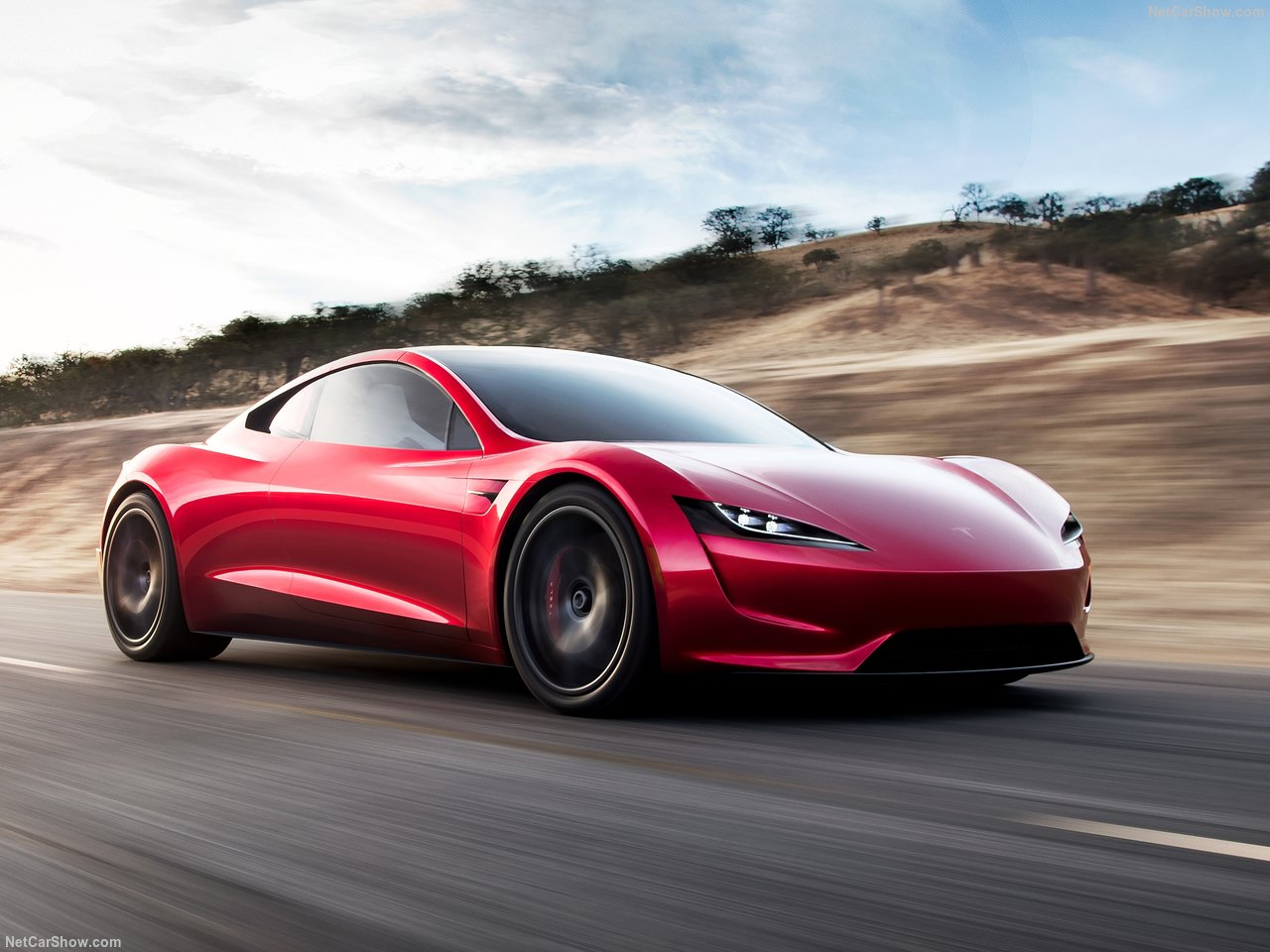 Tesla Roadster cruising